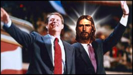 Gore and his alter ego, Jesus Christ
