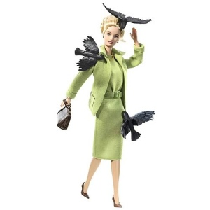 "Tippi Hendron in ""The Birds"" as interpreted by Barbie, performed at London's Royal Albert Collins Hall,  Circa 1967"