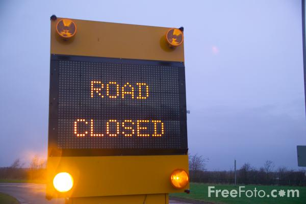 SYMBOLS  Road closed sign