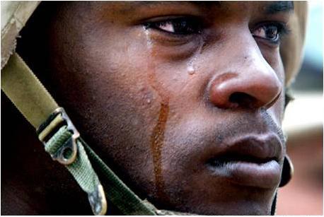 SYMBOLS soldier crying