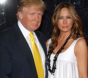 "Donald Trump & Melania Trump at the ""Sex and the City: The Movie"" New York Premiere - Arrivals Radio City Music Hall, New York, NY USA May 27, 2008 © Starlite Pics / MediaPunch/IPX"